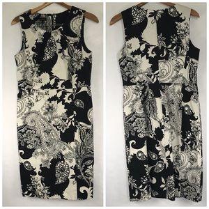 Talbots women's Dress Size 8 Black and White